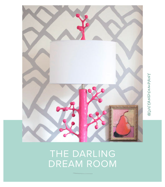 Stray Dog Designs Ava Lamp in a room designed by Lucy and Company