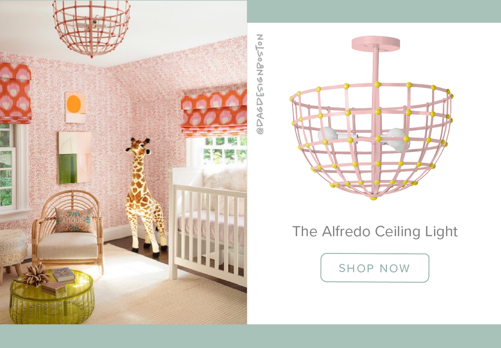 Stray Dog Designs Alfredo Ceiling Light in a nursery designed by @dagdesignboston