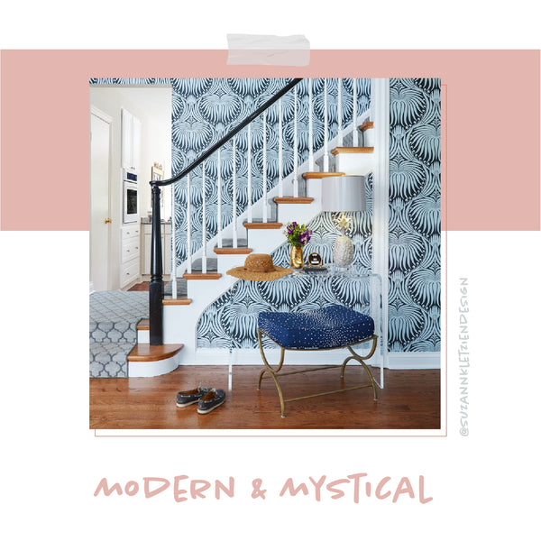 Suzann Kletzien Design entryway featuring Stray Dog Designs