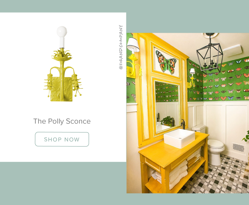 Stray Dog Designs Polly Sconces in a bathroom designed by @zigandcompany