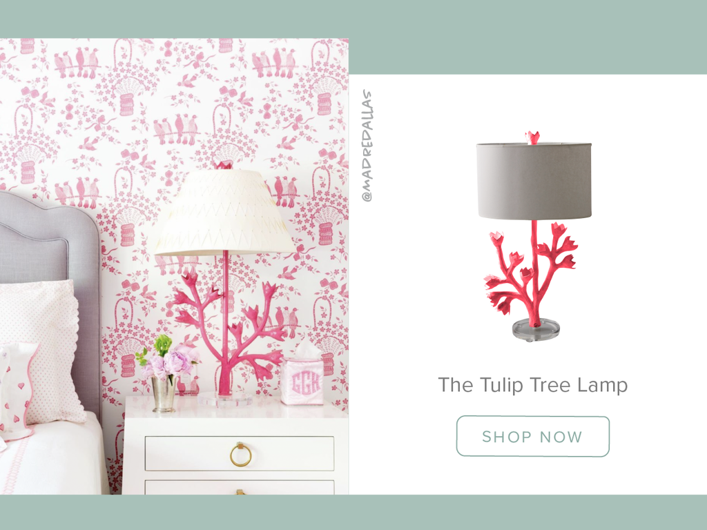 Stray Dog Designs Tulip Tree Lamp in a bedroom designed by Madre Dallas