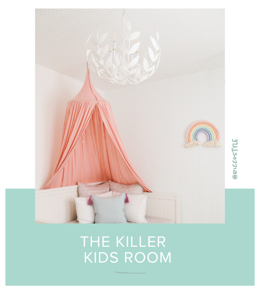 Stray Dog Designs Leonora Chandelier in a kids room designed by Rico Style
