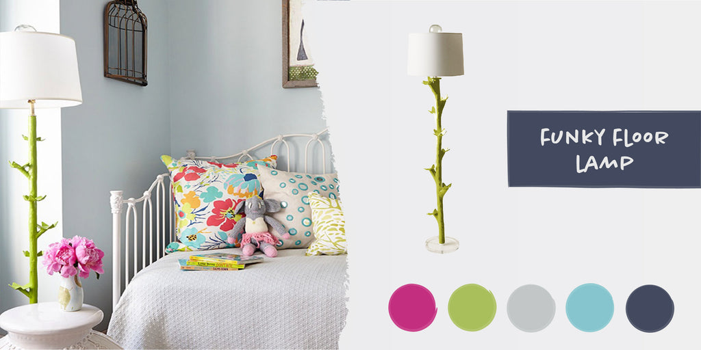 Stray Dog Designs Funky Floor Lamp in a nursery designed by Alexa Stevenson