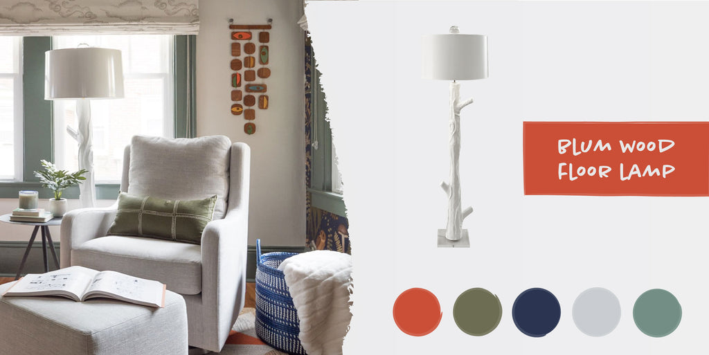 Stray Dog Designs Blumwood Floor Lamp in a nursery designed by Habitude Interiors