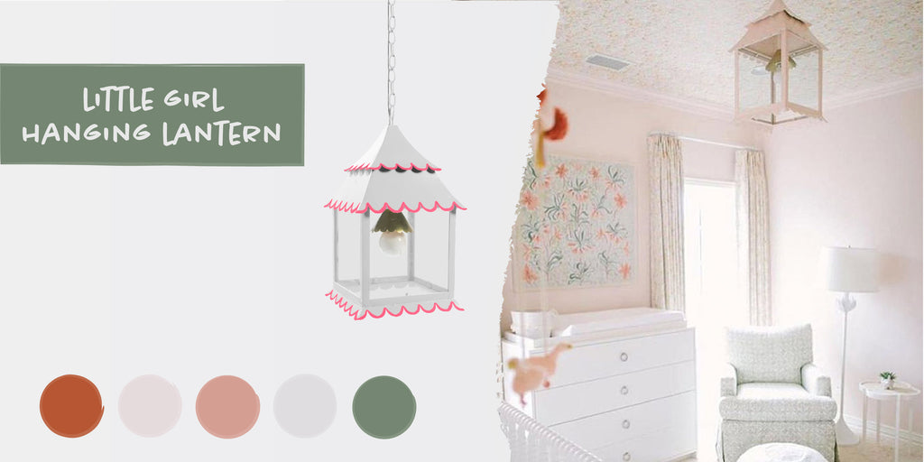 Stray Dog Designs Little Girl Hanging Lantern in a nursery