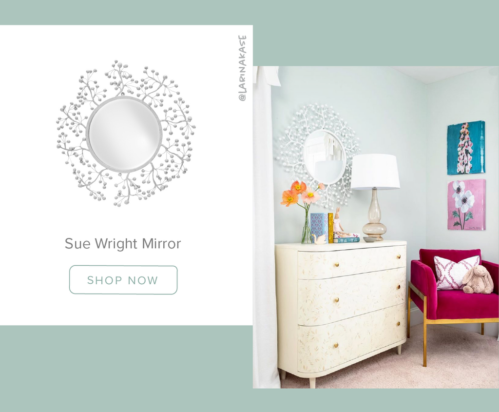Stray Dog Designs Sue Wright Mirror in a Bedroom designed by @larinakase