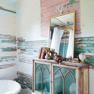Diego Mirror in rustic chic bathroom