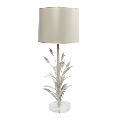Wheat Table Lamp, papier mache with tole shade