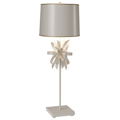 beauregard table lamp, hand made tole with bow design