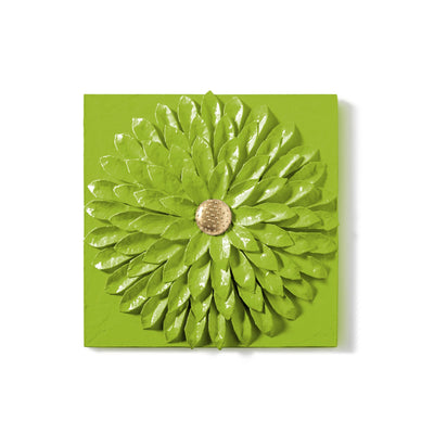 Dahlia Wall Tile by Stray Dog Designs In a Lush Green