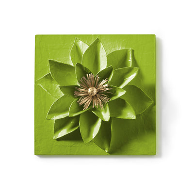 Lotus Flower Wall Tile by Stray Dog Designs