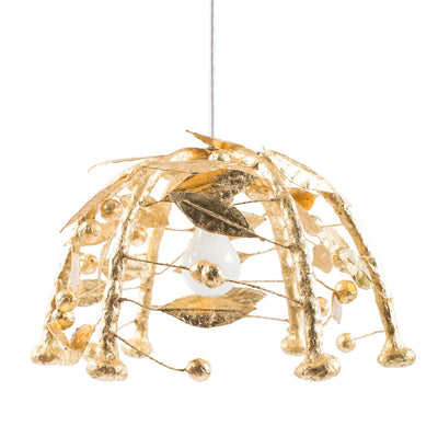 Gold Leaf Gabby hanging light by Stray Dog Designs