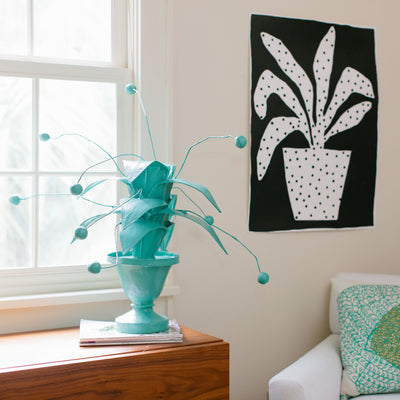 crunchberry papier mache  plant in cute bedroom