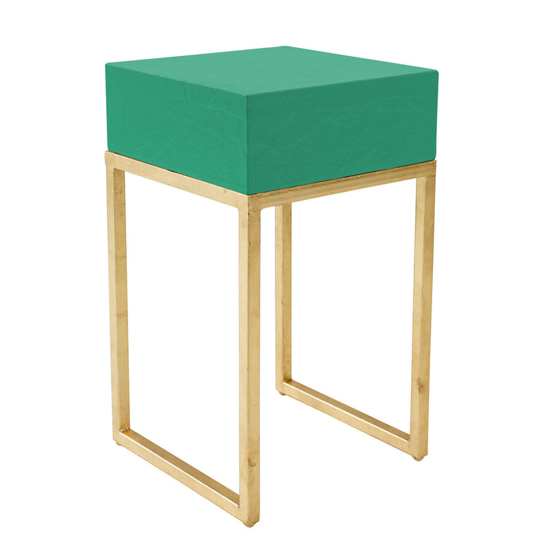 tristan side table made from papier mache and iron stylish bedroom