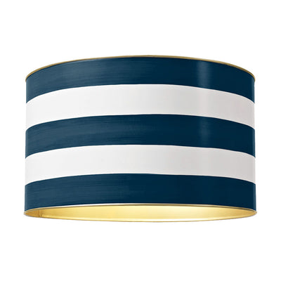 Down Pour Blue Stripe Drum Shade