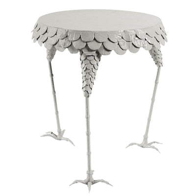 side table with chicken feet