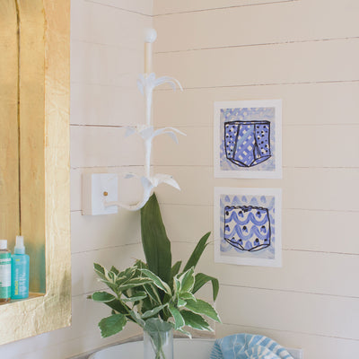 white Jen Sconce by Stray Dog Designs, paper mache