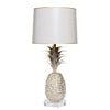 Pineapple Lamp, handmade from papier mache and tole