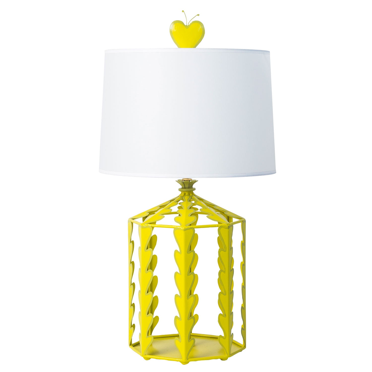 Alice Table Lamp in chartreuse, handmade for stray dog designs