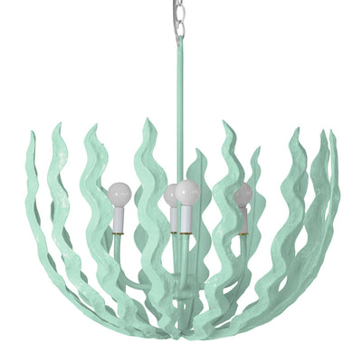 Chucho seaweed chandelier hand made in paper mache