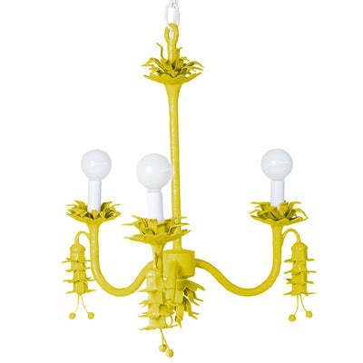 chartreuse Coralie chandelier by Stray Dog Designs