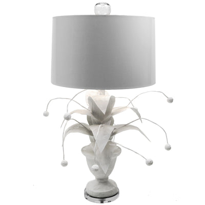 Crunchberry wacky papier mache plant lamp in white