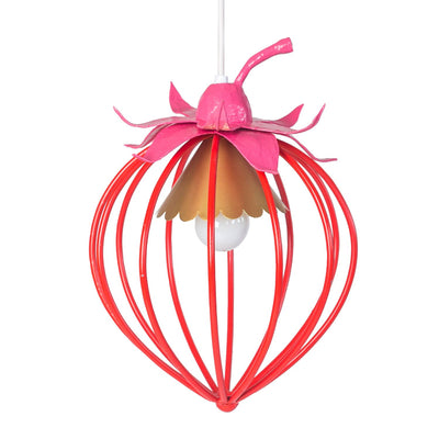 red and pink strawberry pendant light by Stray Dog Designs.