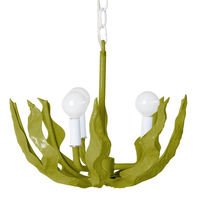 green seaweed light by stray dog designs, made from paper mache