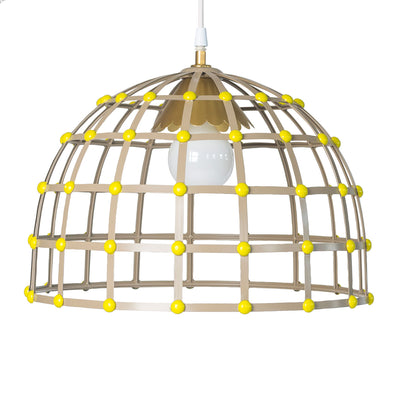 metal ceiling light in gray and chartreuse, Nacho Pendant for Stray Dog