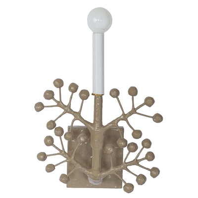 kingsport gray Nini Sconce with papier mache berries