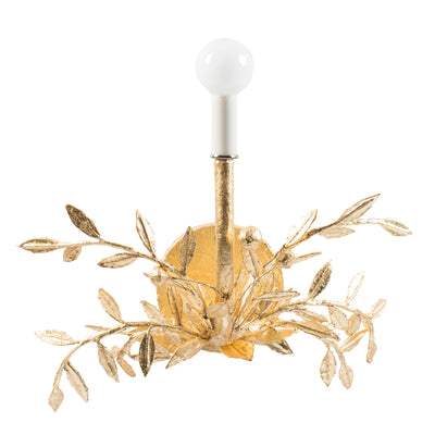 gold leafed Taylor B Wall Sconce, paper mache