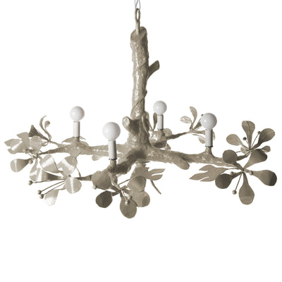 gray papier mache faux bois ceiling light