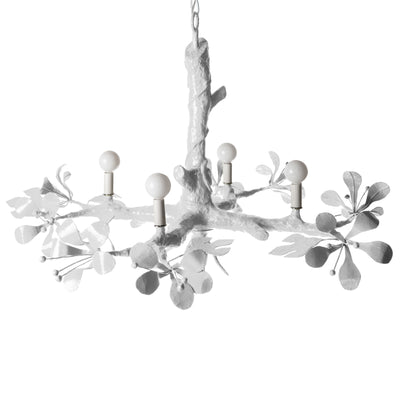 White Twiggy faux bois chandelier for Stray Dog Designs