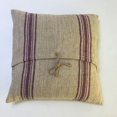 Woven Pillow Purple Stripe
