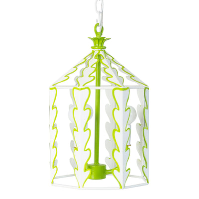 fresh white and green leafy leaf inspired Yola lantern