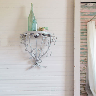 Bouquet Wall Shelf in rustic home