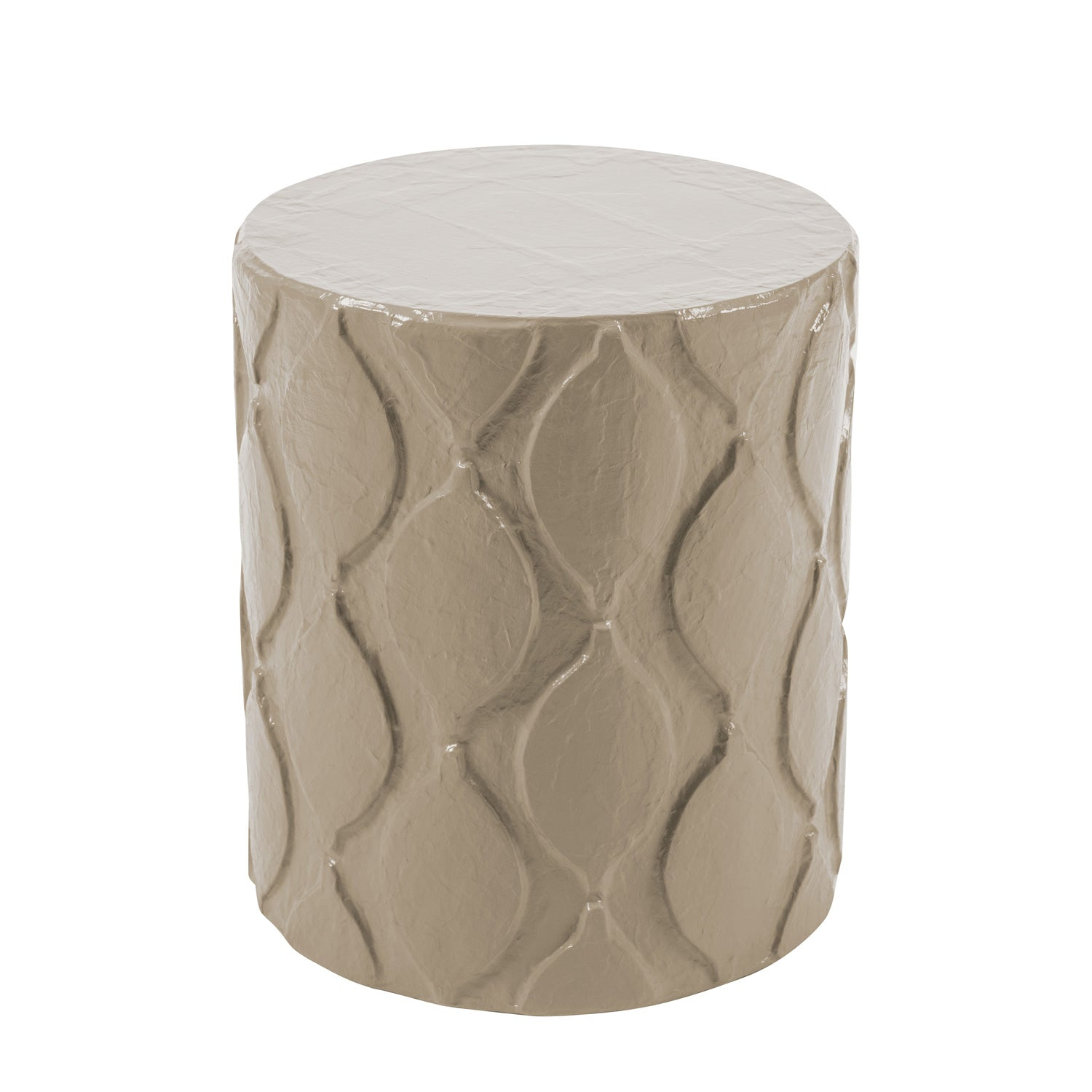 stylish stool/accent table with Moroccan inspired design