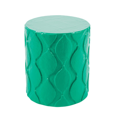 colorful  papier mache stool/accent table