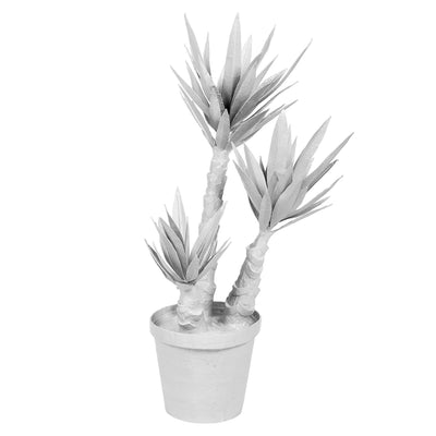 White Yucca Plant in papier mache. Perfect Houseplant!