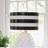Black Stripe Drum Shade