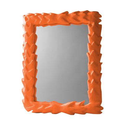 Orange Papier Mache Tropical Mirror by Stray Dog Designs