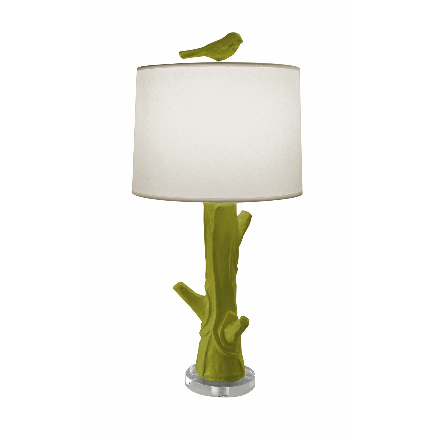 Steph Wood Table Lamp in green by Stray Dog Designs, Paper mache