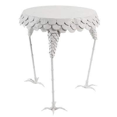 designer chicken themed side table