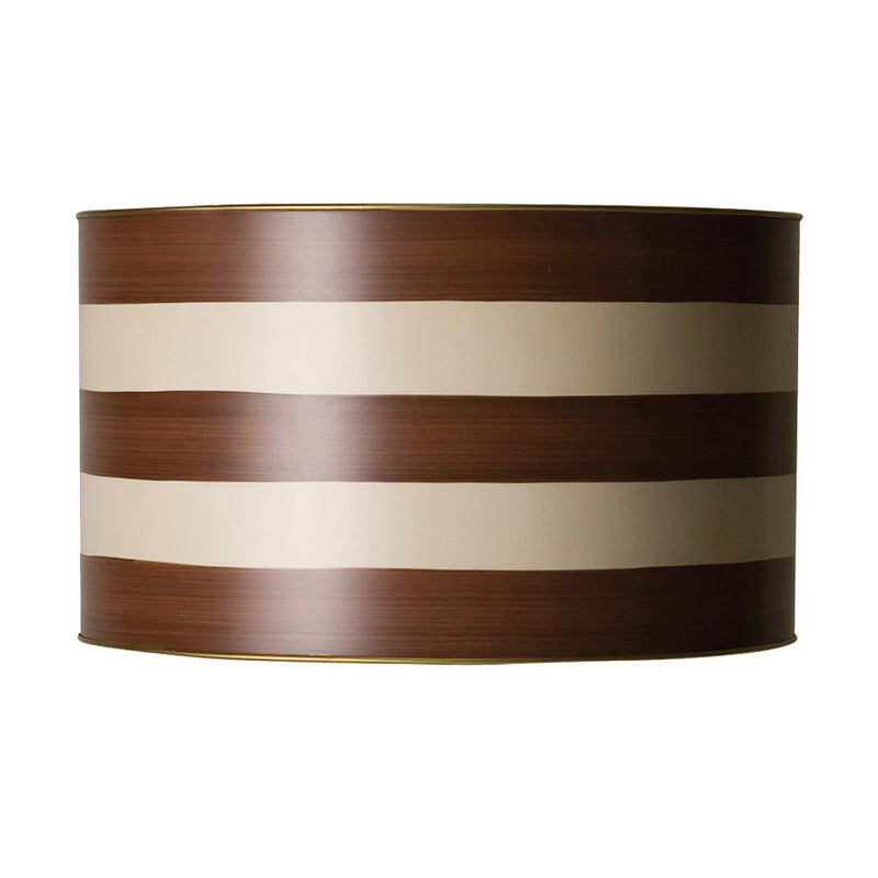 drum-shade-brown-stripes