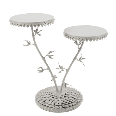gorgeous, funky and unique table handmade with gray finish