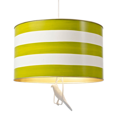 green and white striped uncle walter hanging light