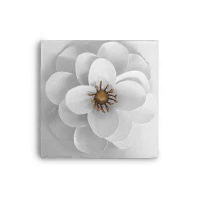 Camellia Flower Wall Art .white and papier mache.