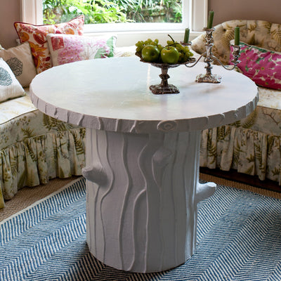 Faux Bois Table In Dining Room
