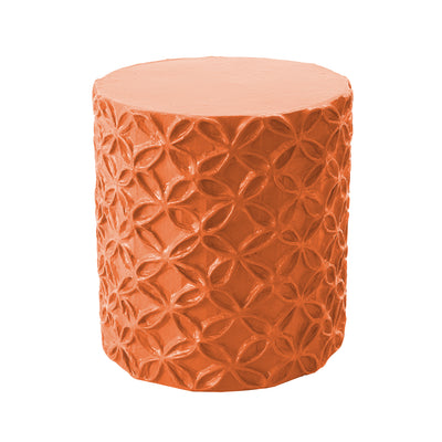 handmade papier mache flower pattern stool