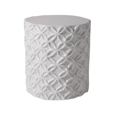 designer flower pattern stool/accent table